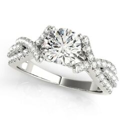 950 Platinum1.00 Ct Real Diamond Engagement Womenand039s Ring Size 5 6 7 8