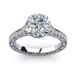0.85 Ct Real Diamond Engagement Rings 950 Platinum Womenand039s Ring Size 5 6 7 8.5 9
