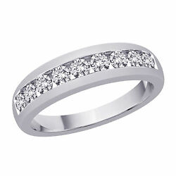 0.54 Ct Diamond Wedding Band Solid 14k Gold Menand039s Ring Size 9 10 11