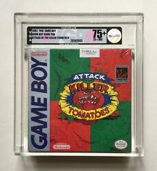 Attack Of The Killer Tomatoes Game Boy Vga 75+ Ex+ Nm H-seam Factory Sealed Rare