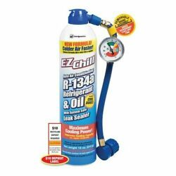 Ez Chill 18oz Air Conditioning Refrigerant W/oil Ac Cooling W/ Hose Acpro R-134a