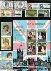 Princess Diana Stamp Collection - 100 Different Stamps