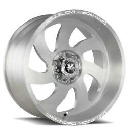 4 24 Off Road Monster Wheels M07 Silver Brushed Face Rims B41