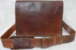 Awesome Vintage Handmade Genuine Leather Briefcase Laptop Shoulder Men#x27;s Bag $34.50