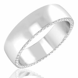 0.68ct Natural Diamond Mens Engagement Rings Fine 14k White Gold Band Size 11 10