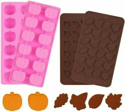 4 Pieces 3d Mini Silicone Molds Halloween Pumpkin Candy Mold Thanksgiving...