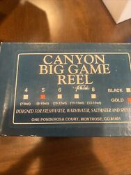 Ross Canyon Big Game Fly Reel Bg-5 Gold 8-10wt Unused Capt Pete Mueller Owned