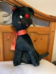 """Laverne And Shirley Boo Boo Kitty 24"""" Black Cat Stuffed Animal Toy Tv Vintage Vtg"""