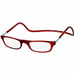 Clic Magnetic Front Connect Reading Glasses In Red +3.00