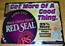 2005 Metal Red Seal 24 X 18 Advertising Tobacco Sign For Man Caves/bar/den Vgc