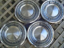1962 63 Lincoln Mark Continental Hubcaps Wheel Covers Center Caps Vintage