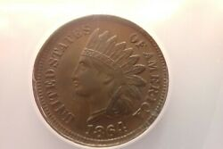 Andnbspvery Rare 1864 Indian Cent No L Rotated Dies Anacs Au50