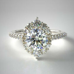 Excellent Cut 1.00 Ct Real Round Diamond Ring Solid 14k White Gold Size 5 7 8 9