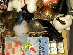 Junk Drawer Mixed Box Lots 12 Pounds Vintage New Antique Various Items