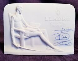 Lladro Collector's Society Porcelain Promotional Store Advertising Display Sign