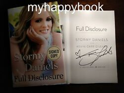 Signed Full Disclosure By Stormy Daniels, Autographed, New