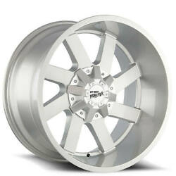 4 22 Off Road Monster Wheels M80 Silver Brushed Face Rims B43