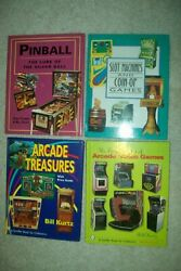 4 Coin-op Books By Kurtz, Signed By The Author- Arcade Treasures And Slot Machines