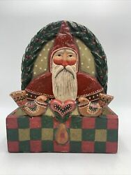 Vintage Pam Schifferl Christmas Card Holder Santa Midwest Of Cannon Falls 2