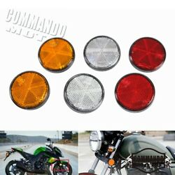 2pcs Ece/sae Certificated Reflector License Plate Bolt For Harley Bobber Chopper