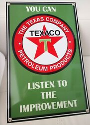 Texaco Large Gasoline Motor Oil Gas Sign ..free Ship On Any 8 Signs
