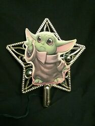 Yoda Star Wars Disney Inspired Lighted Christmas Tree Topper Ornament Top Baby