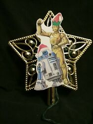 C-3po And R2-d2 Star Wars Disney Inspired Lighted Christmas Tree Topper Top