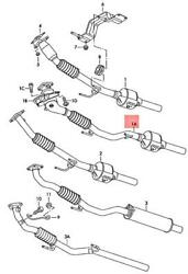 Genuine Vw Skoda Seat Polo Derby Vento-ind Exhaust Pipe Front 6q0254502tx