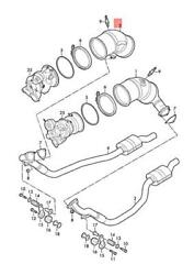 Genuine Audi Audi Rs5 Coupe Sportb. Catalytic Converter Right 8w0254250b