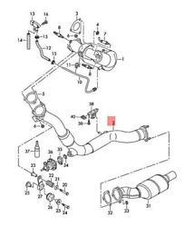 Genuine Audi A4 Allroad Quattro Avant Exhaust Pipe Injection Tube 4g0253350c
