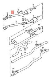 Genuine Vw Lt 4x4 2da 2db 2dc 2dd 2de 2df 2dg 2dh 2dk Exhaust Pipe 2d0254500ax