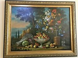 Magnificent Rare 19th Century Spanish Oil By J. Mantorell