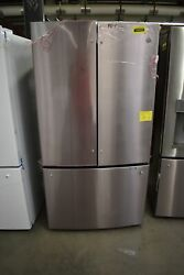 Ge Gwe23gynfs 36 Stainless French Door Refrigerator Nob 102678