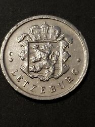 Luxembourg 1963 25 Centimes Charlotte/jean Aluminium 19mm Circulated Coin...