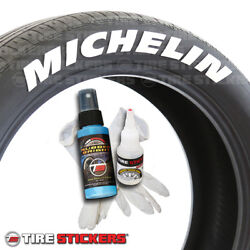 Michelin Tire Stickers - Permanent - 1.25in For 19in To 21in Wheels - 8 Pack