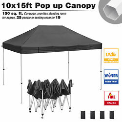 10x15ft Commercial Pop Up Canopy Party Tent Folding Waterproof Gazebo Outdoor