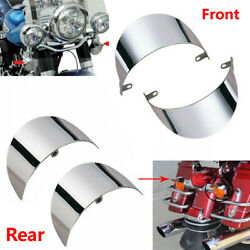 Front Rear Turn Signal Visors Kit For Harley Electra Glide Softail Flht And Flstc