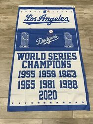 LA Los Angeles Dodgers 3x5 Flag World Series champions 2020 Same Day Shipping