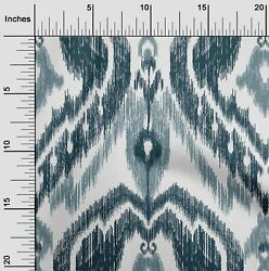 oneOone Polyester Micro Mesh Fabric Ogee Ikat Fabric Prints By Yard bGE