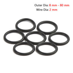2 Mm Nitrile O-ring Nbr Rubber Seal Washer O Ring -25℃ - 100℃ Od 8 Mm - 80 Mm
