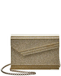 Jimmy Choo Candy Acrylic Glitter Clutch Women#x27;s Gold $619.99