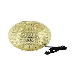 8 Hand-crafted Globe Sparkle Table Lamp - Gold