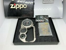 Unused Zippo Limited Edition Lighter And Hang-x Multi-tool Watch Light Compass Set