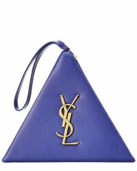 Saint Laurent Pyramid Box Leather Clutch Women#x27;s $1279.99