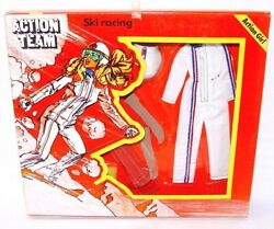 Action Man Action Team Girl Ski Racing 12 Figure Doll Authentic Outfit Misb`70