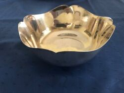 Old Newbury Crafters Governor Wentworth Sterling 7 X 3 1/4 Fluted Bowl