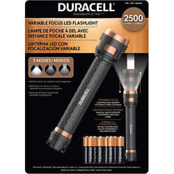 Duracell 2500l Flashlight 2500 Lumens 3 Beam Modes Batteries Included New