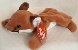 Ty Beanie Baby Sly The Fox Vintage 1996 Style 4115 Pvc New With Tags