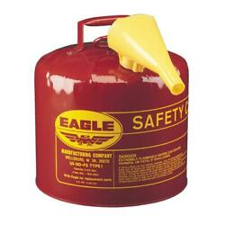 Gas Can 5 Gal Funnel Flame Arrestor Screen Safety Filling Galvanized Steel Red