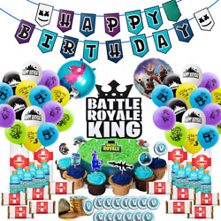 Fortnite Party Supplies Gaming Party Decoration Boys Birthday Party Favors 105pc